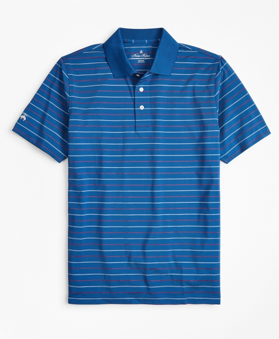 Performance Series Min-Stripe Polo Shirt Blue