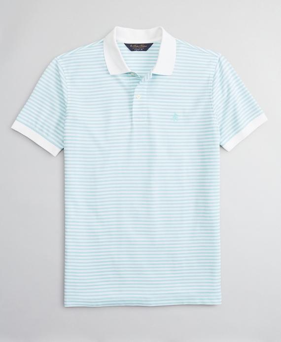 Original Fit Feeder Stripe Polo Shirt Aqua