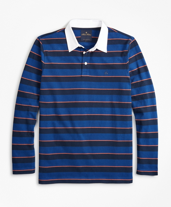 Stripe Rugby Shirt Blue Depths