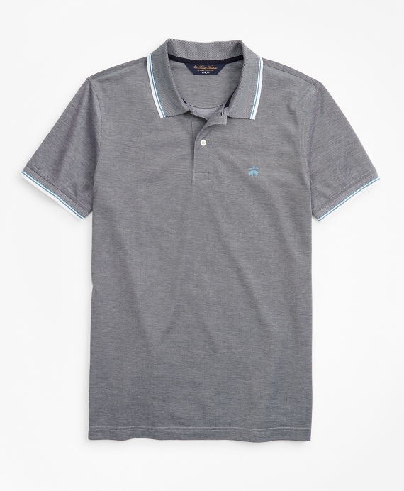 Slim Fit Tipped Polo Shirt Grey