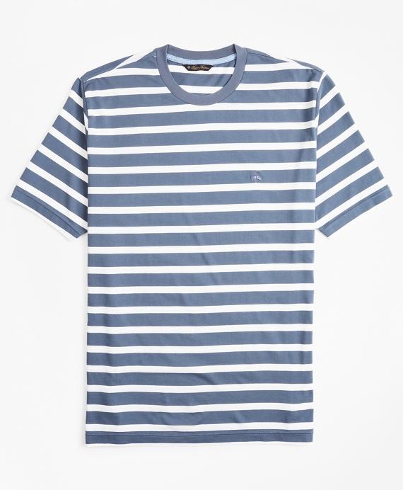 Supima® Cotton Stripe T-Shirt Navy