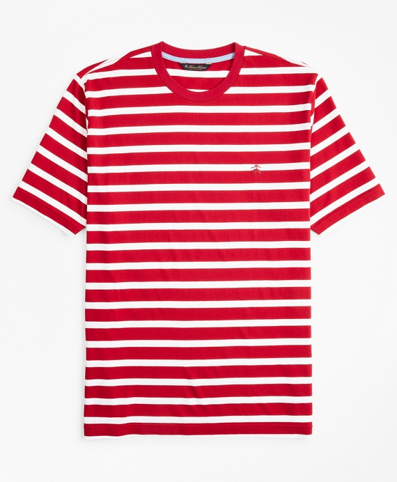 Supima® Cotton Stripe T-Shirt Red