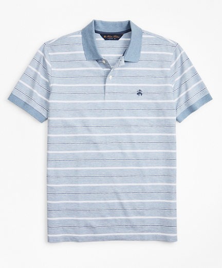 Original Fit Cotton and Linen Stripe Polo Shirt