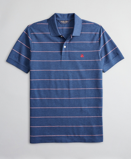 Slim Fit Thin Stripe Polo Shirt