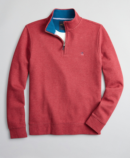 Brushed French Terry Half-Zip