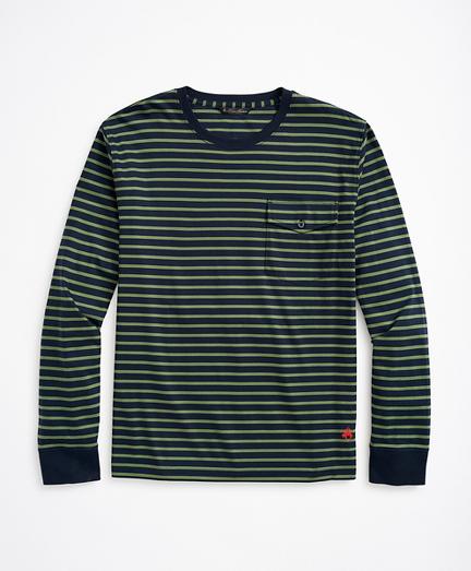 Cotton Striped Long-Sleeve T-Shirt