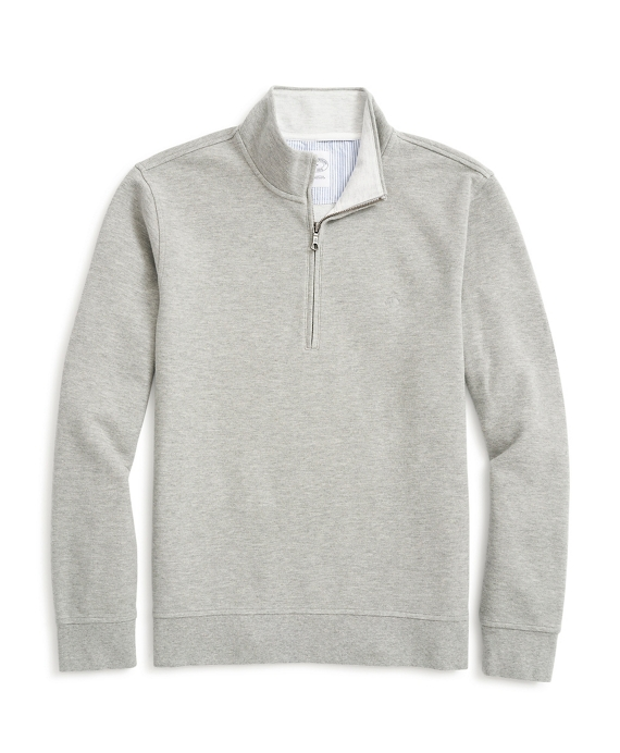 Half-Zip Sweatshirt Medium Grey