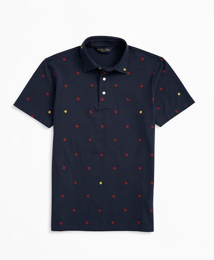 Slim Fit Ladybug Print Polo Shirt
