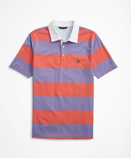 Slim Fit Ruby Stripe Stretch Pique Polo Shirt