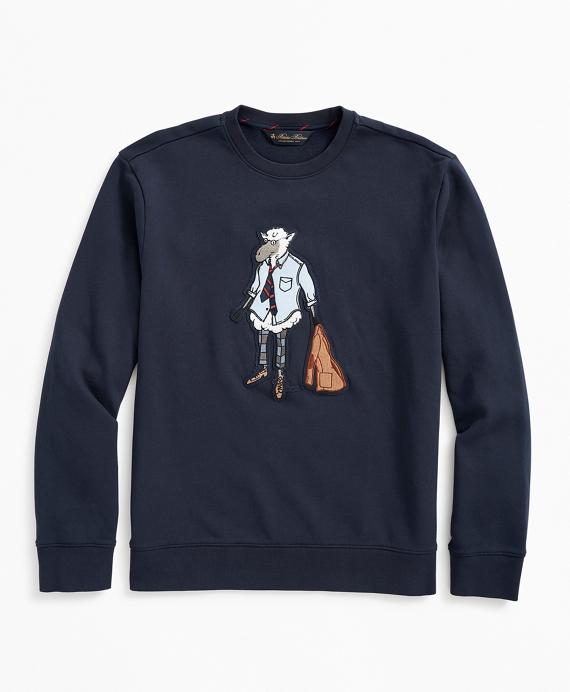 Henry the Sheep Graphic Sweatshirt Navy