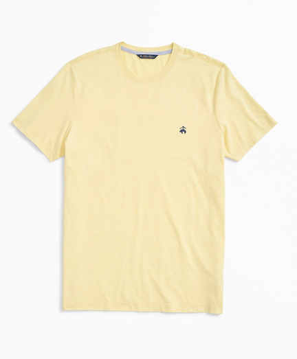 Washed Cotton Logo Crewneck T-Shirt