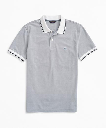 Original Fit Stretch Striped-Trim Polo Shirt