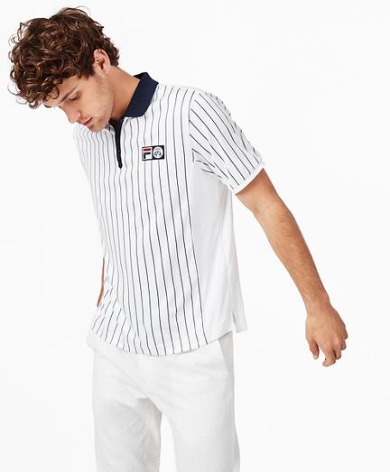 Brooks Brothers x FILA Championship Pinstripe Polo Shirt