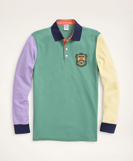 Slim Fit Stretch Long-Sleeve Fun Polo Shirt