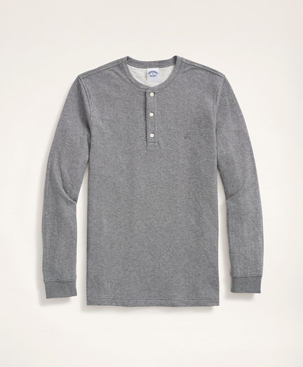 Double-Knit Cotton Jersey Henley