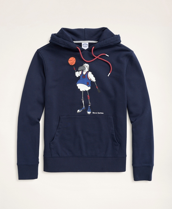 Henry Playing Basketball Graphic Hoodie Navy