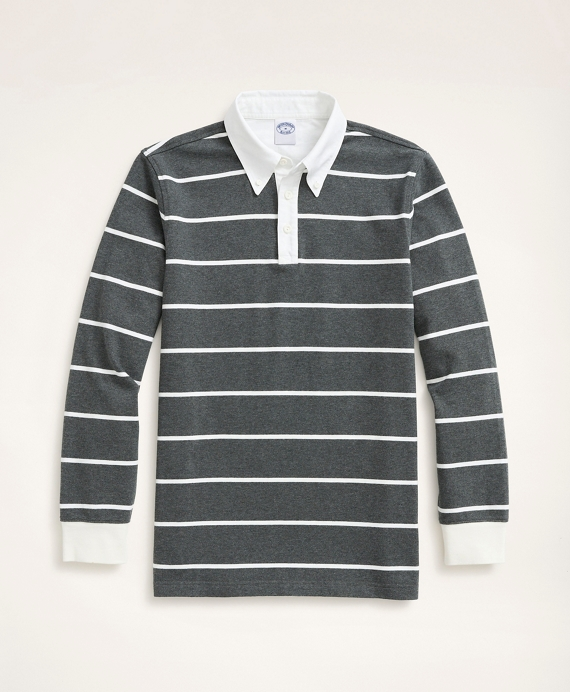 Rugby Shirt, BB#3 Rep Stripe Grey