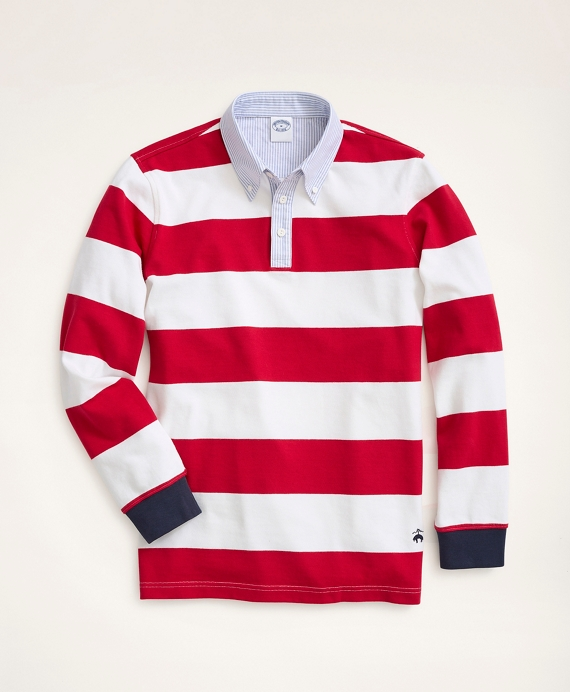 Rugby Shirt, BB#4 Rep Stripe Red