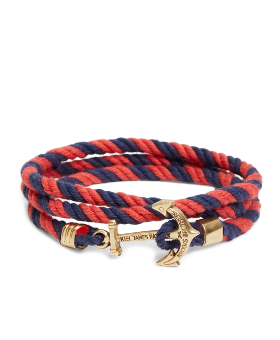 2393fb5fd3e Kiel James Patrick Navy and Red Lanyard Hitch Cord Bracelet ...