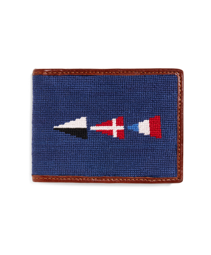 Nautical Flag Needlepoint Wallet