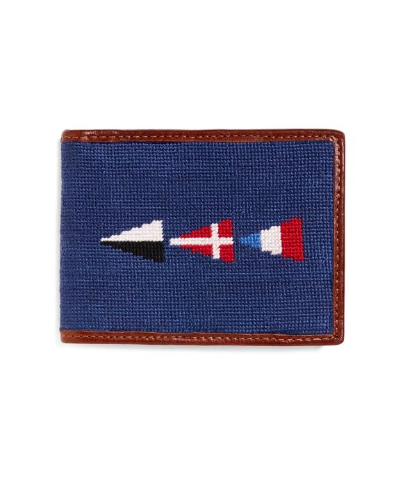 Nautical Flag Needlepoint Wallet Navy