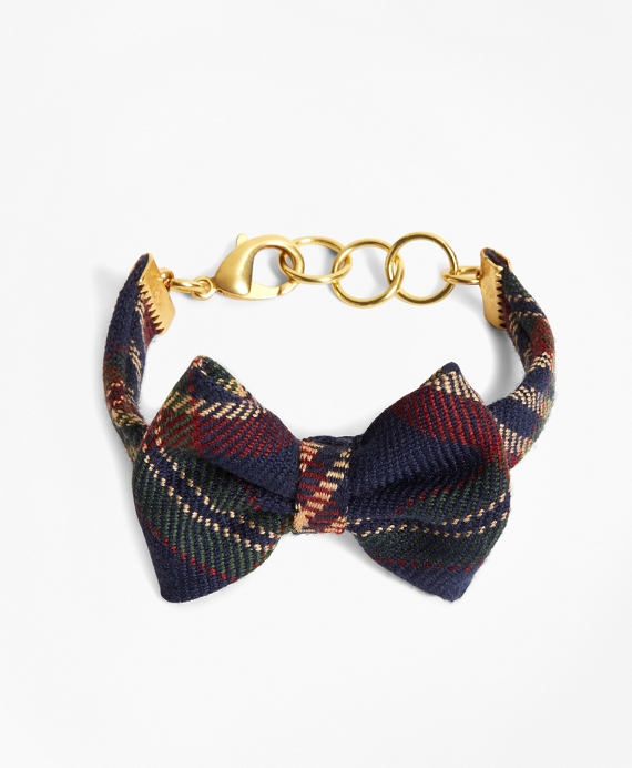 Kiel James Patrick Signature Tartan Bow Tie Bracelet Navy-Red