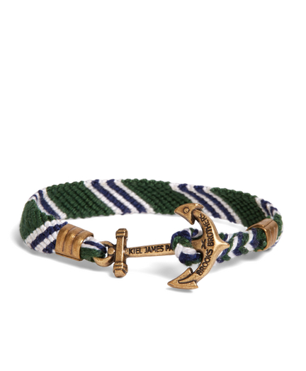 Kiel James Patrick Green Hitch Knot Braided Bracelet
