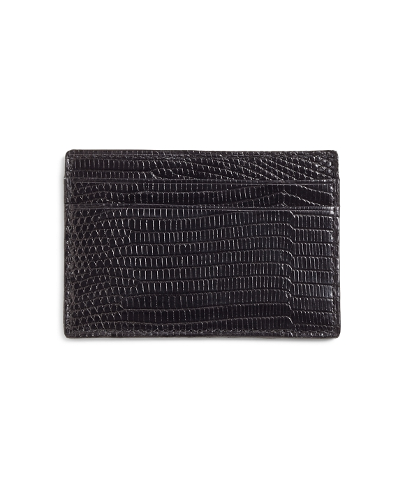 Lizard Slim Card Case Black