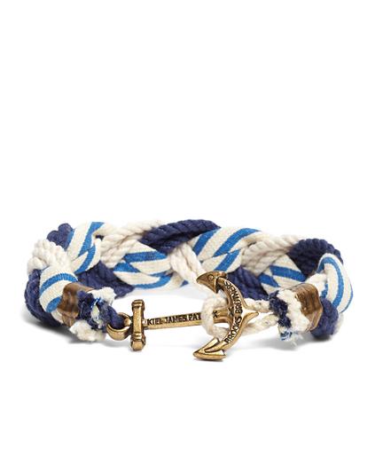 Kiel James Patrick Stripe Braided Bracelet