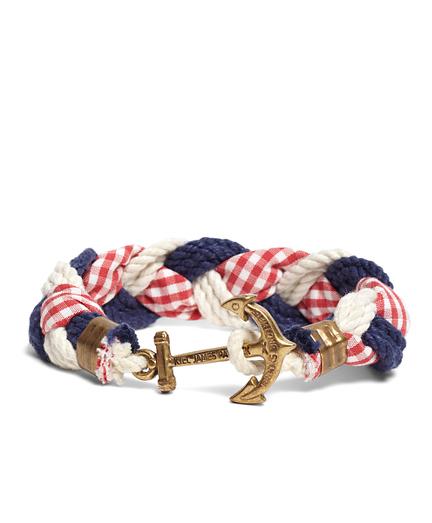 Kiel James Patrick Gingham Braided Bracelet