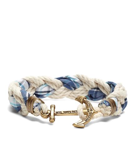 Kiel James Patrick Seersucker Plaid Braided Bracelet