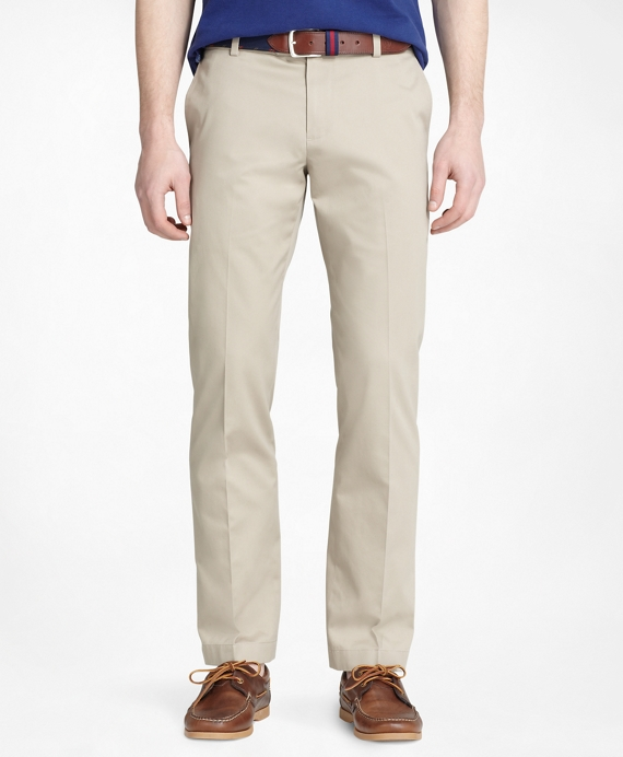 Milano Fit Plain-Front Lightweight Advantage Chinos® Khaki