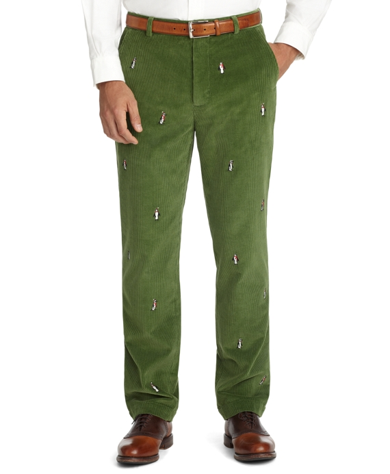 Clark Eight-Wale Embroidered Penguin Pants - Brooks Brothers 3d3623e2c