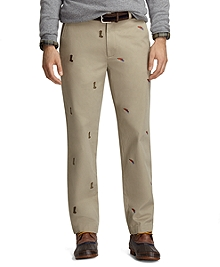 Clark Fit Four-Panel Fishing Embroidered Vintage Chinos