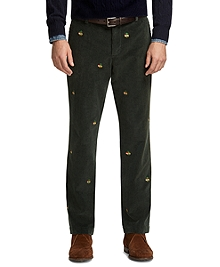 Clark Fit Holiday Fleece Embroidered Corduroys