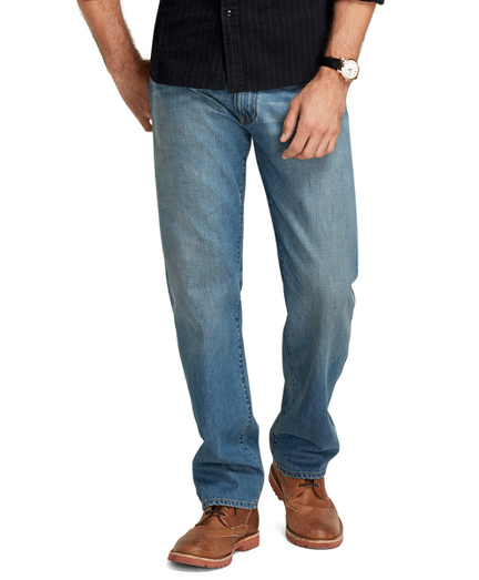 Supima® Denim Relaxed Fit Jeans