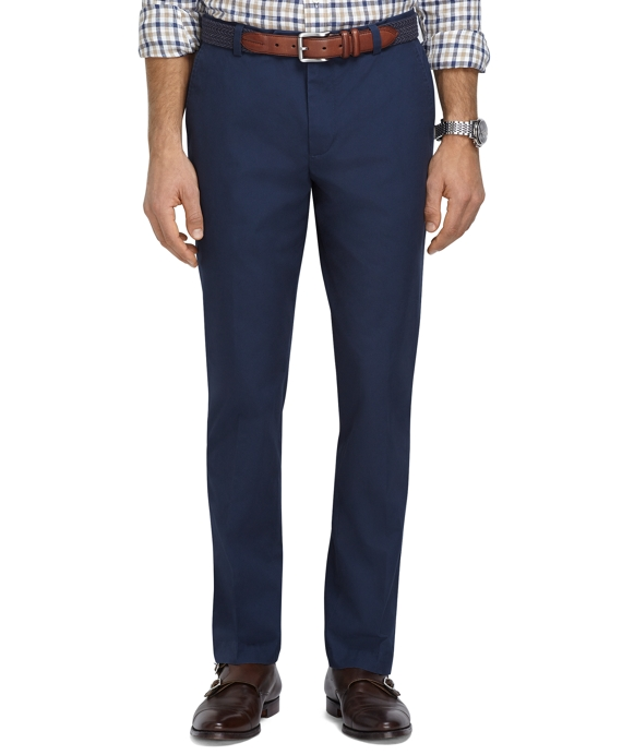 Milano Fit Supima® Cotton Poplin Pants Navy