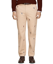 Clark Fit Football Embroidered Chinos