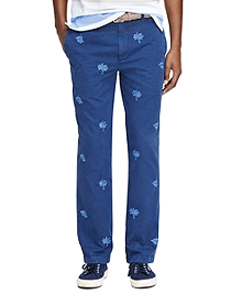 Milano Fit Tropical Embroidered Chinos