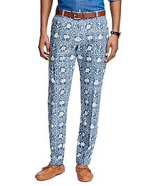 Milano Fit Nautical Print Pants