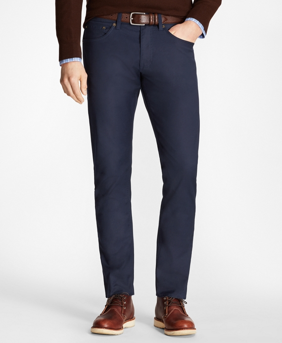 Five-Pocket Selvedge Twill Pants Navy