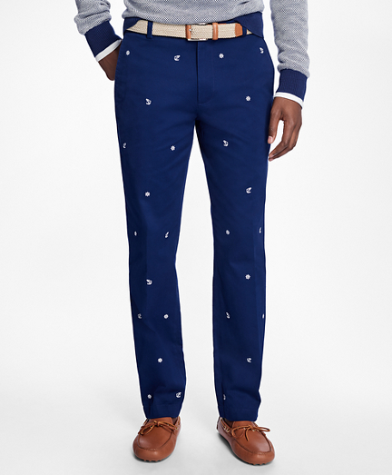 Milano Fit Nautical Embroidered Pants