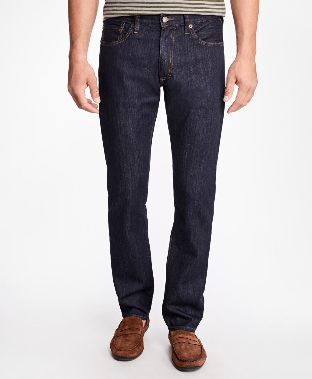 236e9e859a Supima® Stretch Denim Slim Fit Jeans - Brooks Brothers