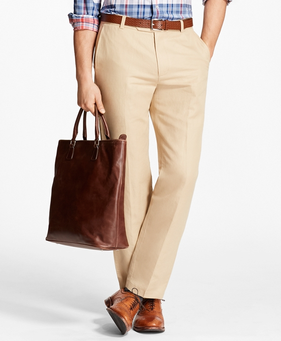 Milano Fit Linen and Cotton Chinos Khaki