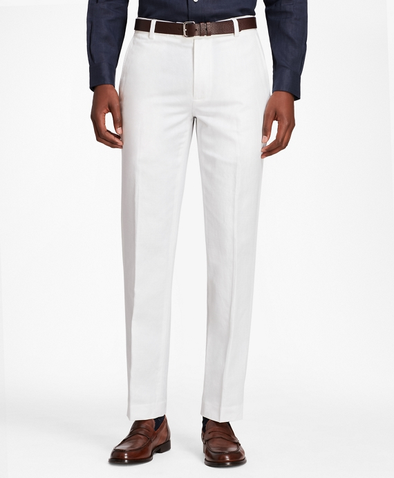 Milano Fit Linen and Cotton Chinos White