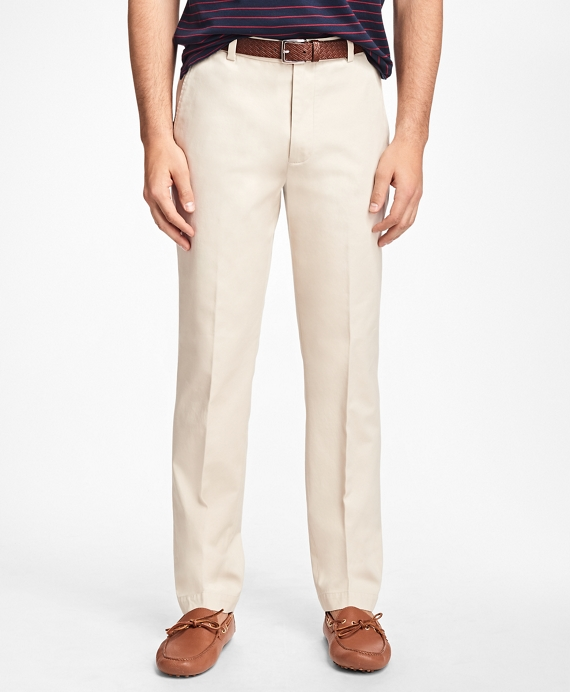 Clark Fit Piece-Dyed Supima® Cotton Stretch Chinos Oatmeal