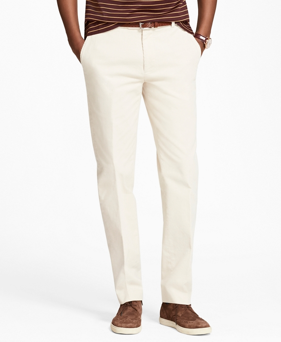 Milano Fit Fine Wale Stretch Corduroys Oatmeal