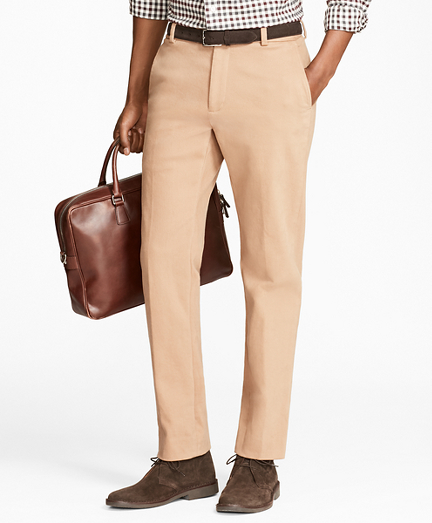 Milano Fit Brushed Twill with Stretch Chinos