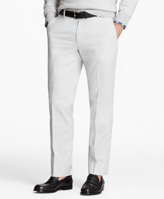 Milano Fit Supima® Cotton Poplin Stretch Chinos Grey