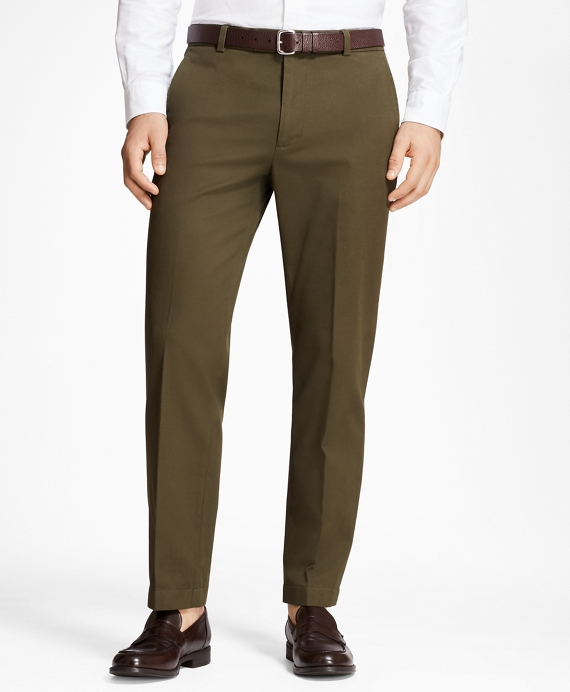 Milano Fit Supima® Cotton Stretch Chinos Dark Green